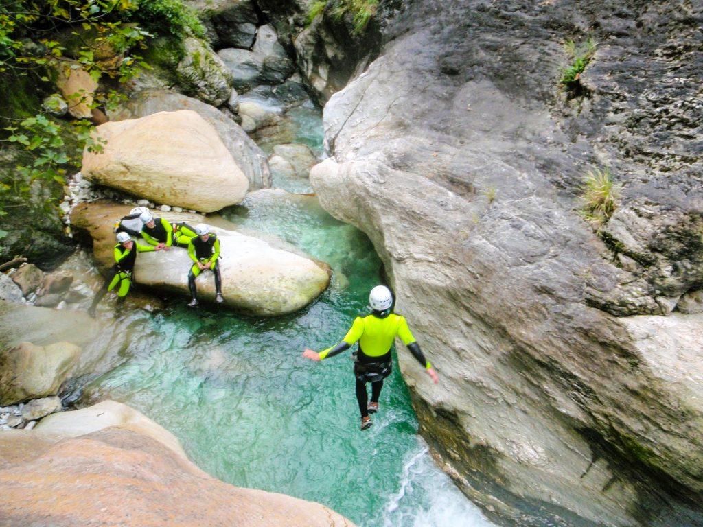 canyoning toscana, torrente serra